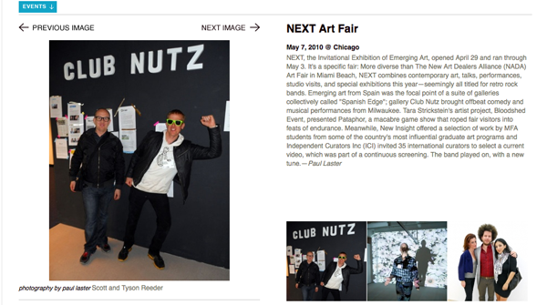 Club Nutz in Art in America